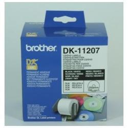 Brother DK-11207 - 100) étiquettes pour CD/DVD - pour Brother QL-1050, QL-500, QL-550, QL-560, QL-650, QL-700, QL-710, QL-720