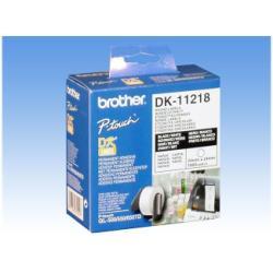 Étiquettes Brother DK-11218 - Rouleau (2,4 cm) 1000 unités (1 rouleau(x) x 1000) étiquettes - pour Brother QL-1050, QL-500, QL-550, QL-560, QL-650, QL-700, QL-720