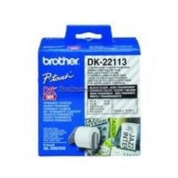 Ruban Brother DK-22113 - Clair - Rouleau (6,2 cm x 15,2 m) film - pour Brother QL-1050, QL-500, QL-550, QL-560, QL-650, QL-700, QL-710, QL-720