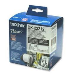 Ruban Brother DK-22212 - Ruban - adhésif permanent - blanc - Rouleau (6,2 cm x 15,2 m) - pour QL-1050, 1060, 500, 550, 560, 570, 580, 650, 700, 710, 720