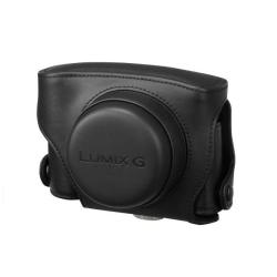 Sacoche Panasonic DMW-CGK7E-K - Étui appareil photo - cuir - noir - pour Lumix G DMC-GF3, DMC-GF3C, DMC-GF3W
