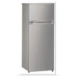 Réfrigérateur Ignis DPA 26/3 AL - Réfrigérateur/congélateur - pose libre - largeur : 54 cm - profondeur : 59.5 cm - hauteur : 144 cm - 227 litres - congélateur haut - classe A+ - aluminium