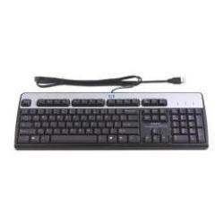 Clavier HPE Standard - Clavier - USB - suédois - argenté(e), carbonite - pour Compaq Business Desktop dc7700; Flexible Thin Client t510; Workstation xw8600, z600