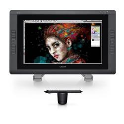 Tablette graphique Wacom Cintiq 22HD Touch - Numériseur avec écran à cristaux liquides - 47.9 x 27.1 cm - électromagnétique - 16 boutons - filaire - USB