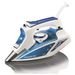 Fer à repasser Rowenta STEAM FORCE DW 9220 - Fer à vapeur - semelle : Laser Microsteam 400 - 2750 Watt - blanc/bleu