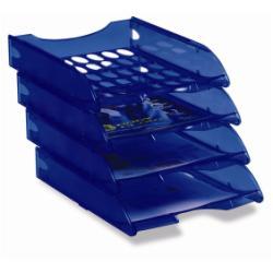 Bac à courrier Leonardi - Corbeille à courrier - 242 x 342 mm - bleu marine