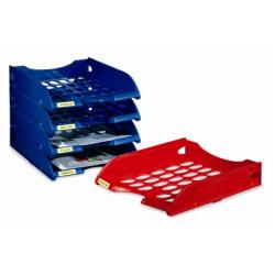 Bac à courrier Leonardi - Corbeille à courrier - A4 - rouge transparent