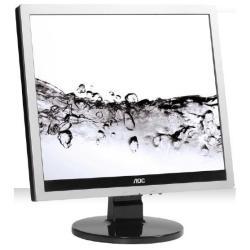 """Écran LED AOC e719Sda - Écran LED - 17"""" (17"""" visualisable) - 1280 x 1024 - TN - 250 cd/m² - 1000:1 - 5 ms - DVI-D, VGA - haut-parleurs - noir, argenté(e)"""