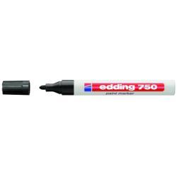 Marqueur edding 750 paint - Marqueur - permanent - noir - encre pigmentée - 2-4 mm - pack de 10