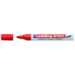 Marqueur edding 750 paint - Marqueur - permanent - rouge - encre pigmentée - 2-4 mm - pack de 10