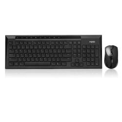 Kit tastiera mouse Rapoo - Wireless Combo E8200 Nero