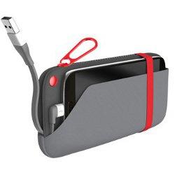Chargeur EMTEC Power Pouch U500 - Banque d'alimentation Li-pol 6000 mAh - 2 A (USB, Micro-USB de type B (alimentation uniquement)) - sur le câble : Micro-USB - noir/gris