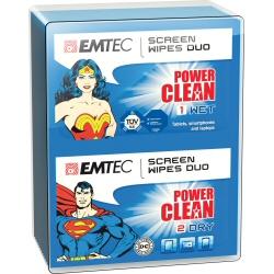 Produit de nettoyage Emtec - Duo de lingettes nettoyantes