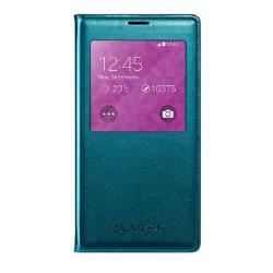 Housse Samsung S View Cover EF-CG900 - Protection à rabat pour téléphone portable - vert - pour Galaxy S5, S5 Neo