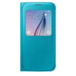 Custodia Samsung - S-View Cover Galaxy S6 Blu