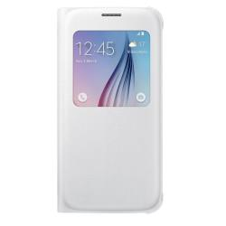 Custodia Samsung - S View Cover Galaxy S6 Bianco