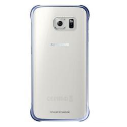 Coque Samsung Clear Cover EF-QG925B - Coque de protection pour téléphone portable - noir - pour Galaxy S6 edge