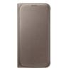 Cover Samsung - Flip Wallet Galaxy S6 Oro