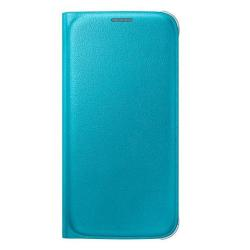 Foto Custodia  EF-WG920PLEGWW  per  Galaxy S6  in  Similpelle Azzurro Samsung