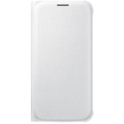 Coque Samsung Flip Wallet EF-WG920P - Protection à rabat pour téléphone portable - polyuréthane - blanc - pour Galaxy S6