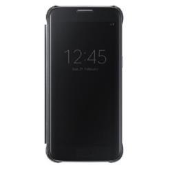 Custodia Samsung - CLEAR VIEW COVER BLACK S7