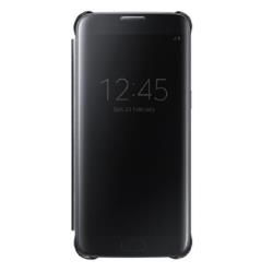 Custodia Samsung - CLEAR VIEW COVER BLACK S7 EDGE