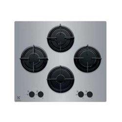 Plan de cuisson Electrolux Quadro EGT 6242 LOM - Table de cuisson au gaz - 4 plaques de cuisson - Niche - largeur : 56 cm - profondeur : 48 cm - miroir