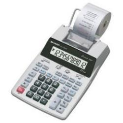 Calculatrice Sharp EL-1750PIIIGY - Calculatrice avec imprimante - LCD - 12 chiffres - pile