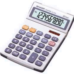 Calculatrice Sharp EL334EB - Calculatrice de bureau - 10 chiffres - panneau solaire, pile