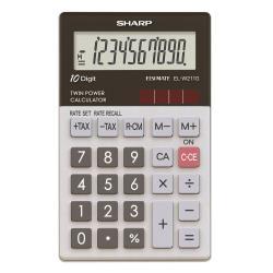 Calculatrice Sharp ELW211GBGY - Calculatrice de poche - 10 chiffres - panneau solaire, pile