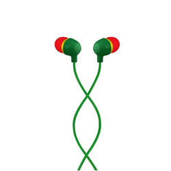 House of Marley Little Bird - Écouteurs avec micro - intra-auriculaire - jack 3,5mm - isolation acoustique - rasta