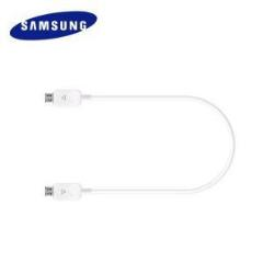 Câble Samsung Power Sharing Cable EP-SG900 - Câble d'alimentation USB - Micro-USB de type B (alimentation uniquement) (M) pour Micro-USB de type B (alimentation uniquement) (M) - 30 cm - blanc - pour Galaxy S5