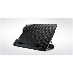 Support pour LCD Cooler Master Notepal ERGOSTAND III - Support pour ordinateur portable - avec concentrateur USB 4 ports, ventilateur de refroidissement - 230 mm - noir