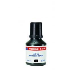 Stylo edding T 25 - Encre - permanent - noir - 30 ml