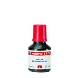 Stylo edding T 25 - Encre - permanent - rouge - 30 ml