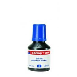 Stylo edding T 25 - Encre - permanent - bleu - 30 ml - pack de 10