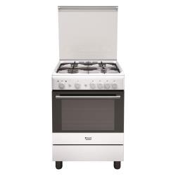 Cuisinière à gaz Hotpoint Ariston H6GG1F (W) IT - Cuisinière - pose libre - largeur : 60 cm - profondeur : 60 cm - hauteur : 85 cm - blanc