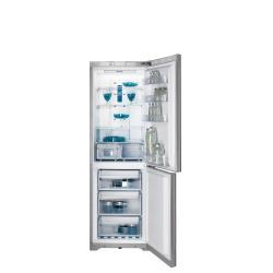 Réfrigérateur Indesit BIAA 13P SI - Réfrigérateur/congélateur - pose libre - largeur : 60 cm - profondeur : 65.5 cm - hauteur : 187 cm - 303 litres - congélateur bas - classe A+ - argenté(e)