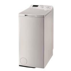 Lave-linge Indesit ITW D 61052 W (IT) - Machine à laver - pose libre - largeur : 40 cm - profondeur : 60 cm - hauteur : 90 cm - chargement par le dessus - 42 litres - 6 kg - 1000 tours/min - blanc