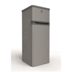 Réfrigérateur Indesit RAA 29 - Réfrigérateur/congélateur - pose libre - largeur : 55 cm - profondeur : 58 cm - hauteur : 143 cm - 212 litres - congélateur haut - classe A+ - argenté(e)