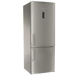 Réfrigérateur Hotpoint Ariston E2BYH 19323 F O3 - Réfrigérateur/congélateur - pose libre - largeur : 70 cm - profondeur : 75 cm - hauteur : 190 cm - 456 litres - congélateur bas - Classe A++ - inox