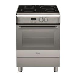 Cuisinière à gaz Hotpoint H6IMAAC (X) - Cuisinière - pose libre - largeur : 60 cm - profondeur : 60 cm - hauteur : 85 cm - inox