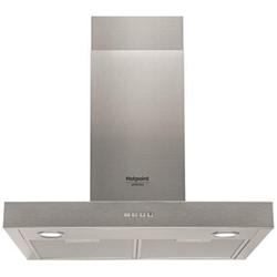 Hotte Hotpoint HHF 6.4 F AM X - Capot - hotte décorative - largeur : 60 cm - profondeur : 41 cm - evacuation & recyclage - inox
