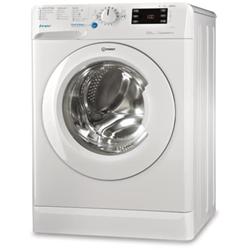 Lave-linge Indesit Innex BWE 91284X WSSS IT - Machine à laver - pose libre - largeur : 59.5 cm - profondeur : 60.5 cm - hauteur : 85 cm - chargement frontal - 62 litres - 9 kg - 1200 tours/min - blanc/argent