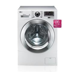 Lave-linge LG 6 Motion Direct Drive F14A8FDA - Machine à laver - pose libre - largeur : 60 cm - profondeur : 64 cm - hauteur : 85 cm - chargement frontal - 66 litres - 9 kg - 1400 tours/min