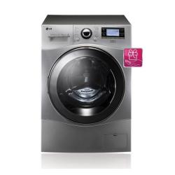 Machine à laver séchante LG 6 Motion Direct Drive F1695RDH7 - Machine à laver séchante - pose libre - largeur : 60 cm - profondeur : 64 cm - hauteur : 85 cm - chargement frontal - 77 litres - 12 kg - 1600 tours/min