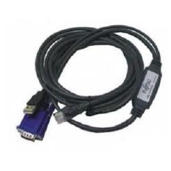 câble Fujitsu - Câble vidéo / USB - USB, HD-15 (M) pour RJ-45 (M) - 3 m - pour PRIMECENTER