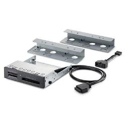 Adaptateur HP 15-in-1 USB2/3 Media Card Reader - Lecteur de carte - 15 en 1 - 3,5 po (CF I, CF II, MS, MS PRO, Microdrive, SD, MS Duo, MS PRO Duo, SDHC, MS PRO-HG Duo, SDXC, MS Select, SDHC UHS-II) - USB 3.0 - pour EliteDesk 700 G1, 800 G1 (SFF, tour); ProDesk 400 G1, 405 G1, 490 G1, 600 G1 (SFF, tour)