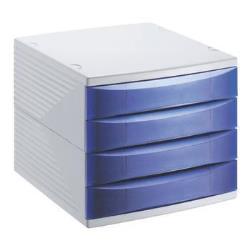 Rotho - Desktop 4 cass blu tras quadra