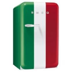 Réfrigérateur portable Smeg '50 FAB10HRIT - Réfrigérateur - pose libre - largeur : 54.3 cm - profondeur : 63.2 cm - hauteur : 96 cm - 130 litres - classe A+ - drapeau italien